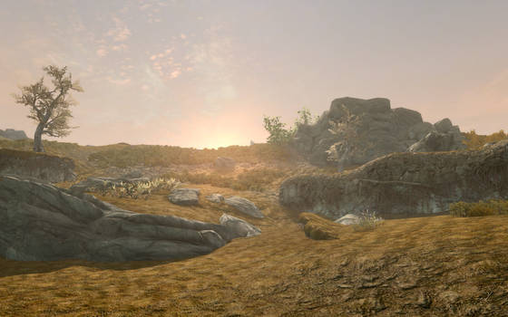 Skyrim Screenshot____ Upon the hills by Salmoonella