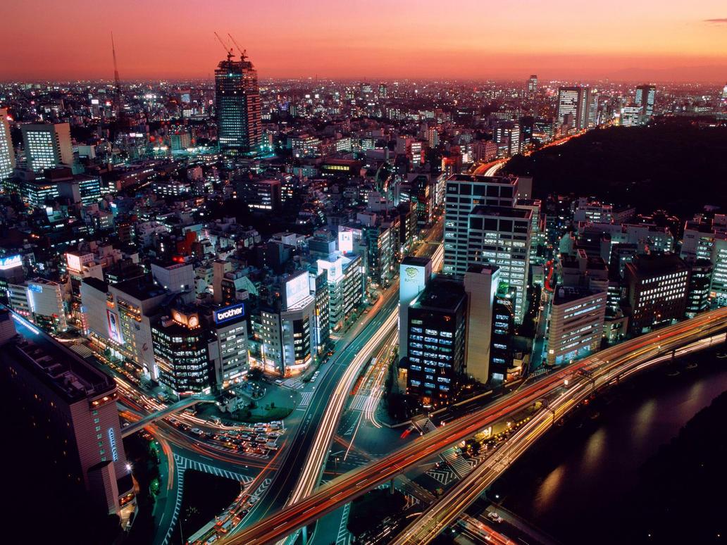 Dusk in Tokyo, Japan by KintaiZach