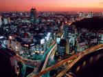 Dusk in Tokyo, Japan