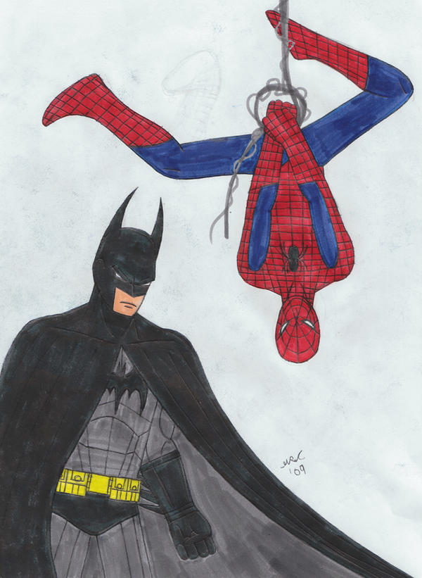 Spider-man and Batman by batfan20