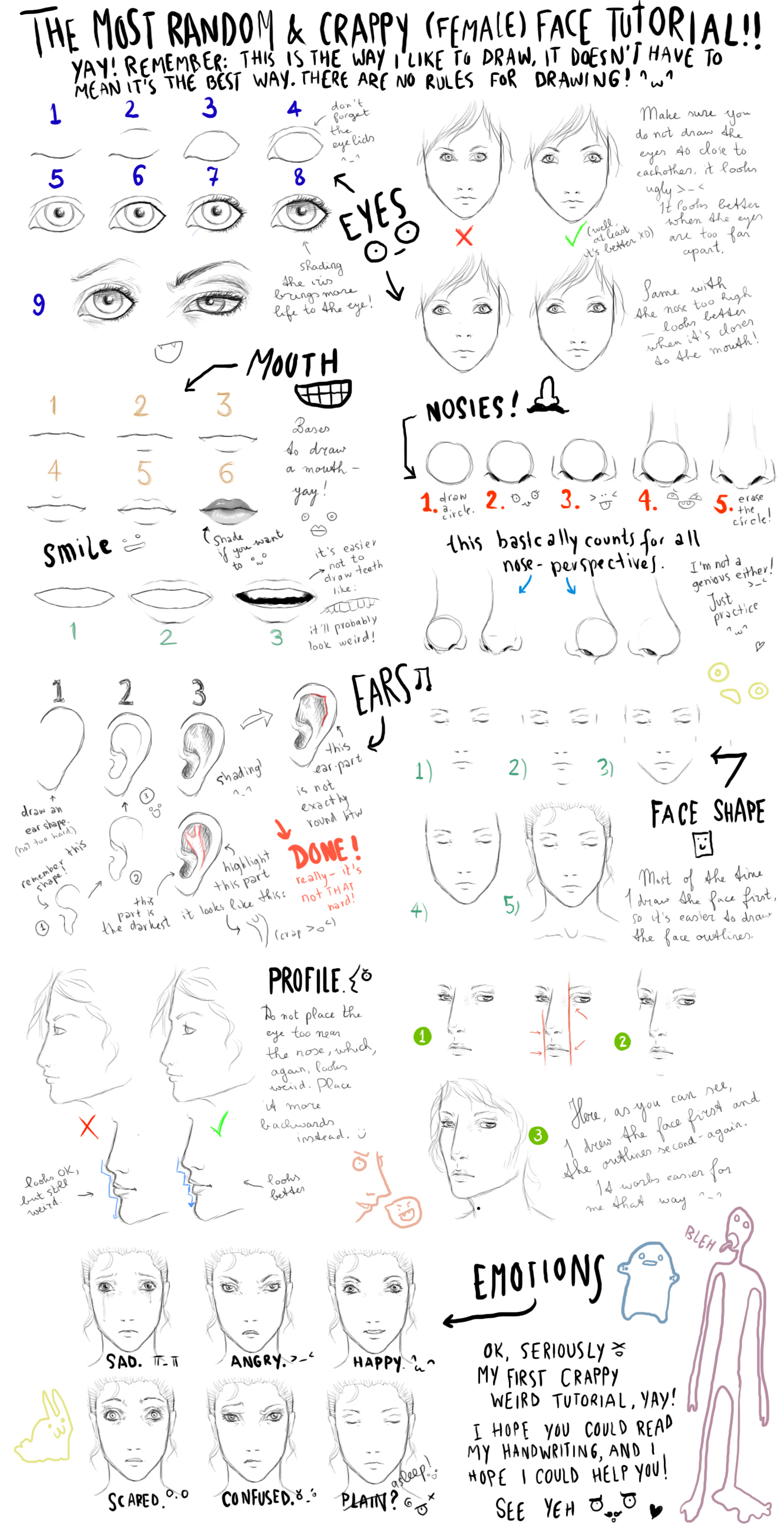 The most random face tutorial by Out-of-the-rain