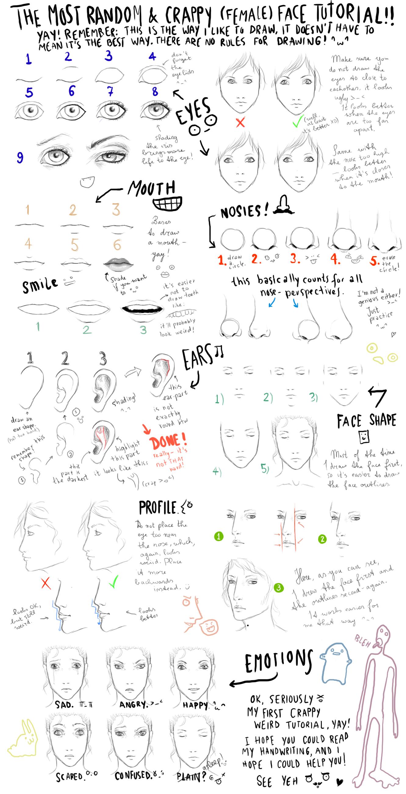The most random face tutorial