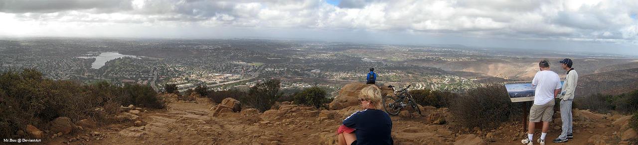 Panorama: Cowles Mountain Peak by mr-buu