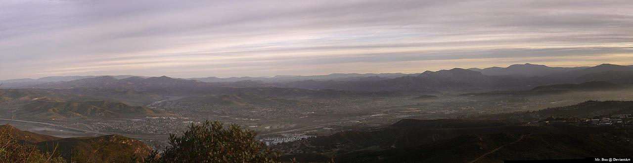 Panorama: Santee -- El Cajon by mr-buu