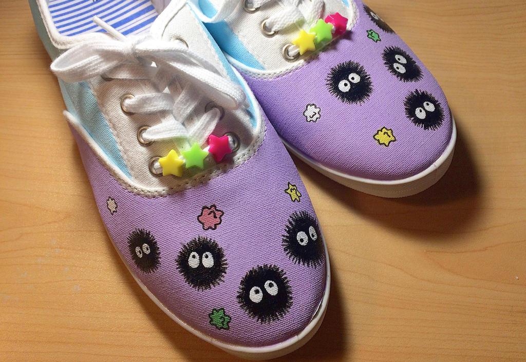 Studio Ghibli Shoes by artandalexandra
