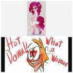 Hot Pinkie and Wander being silly by Lilbob2000