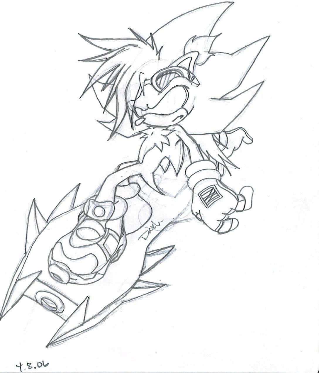 Dash sonic riders sketch by dash tha hedgehog on deviantart for Sonic dash coloring pages