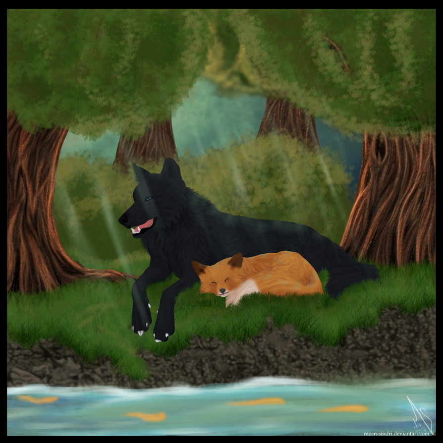 The Fox And The Wolf By Mean Sindri On Deviantart