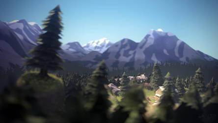 TF2 alpine landscape by mlebled