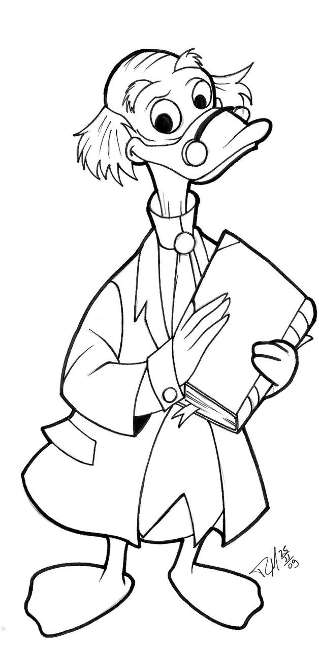 Ludwig von drake by rogerio michieli on deviantart for Drake coloring pages