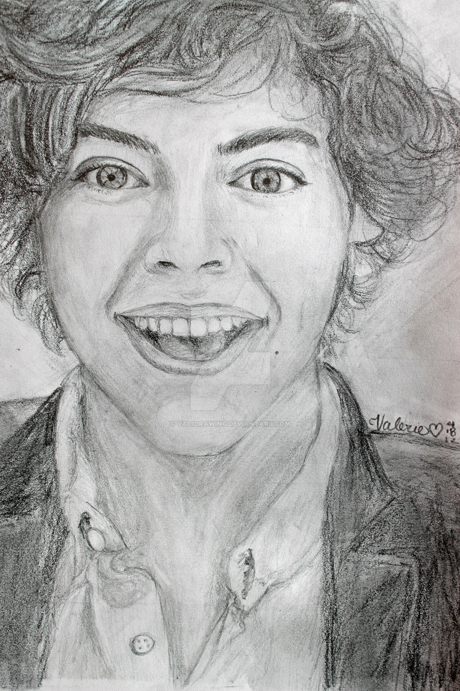 Harry Styles - One Direction (: by val1drawing on DeviantArt