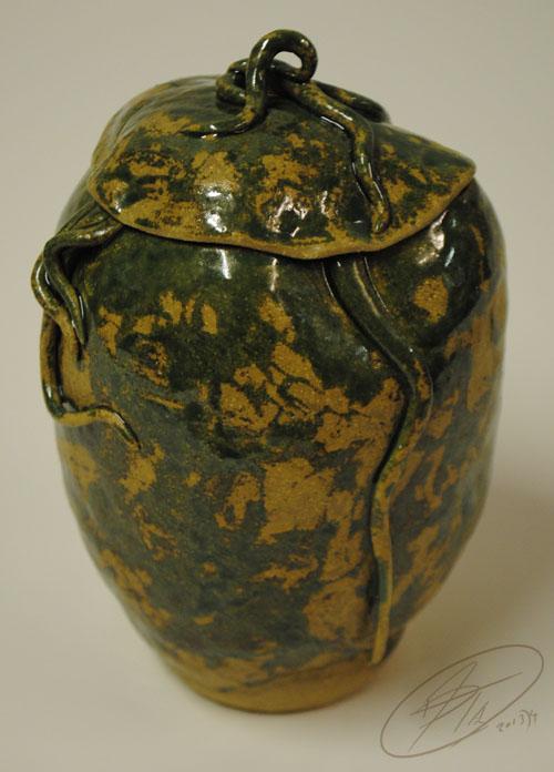 Serpentine Lidded Pot by Jade-Kitten