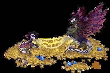 On a Pile O gold by MediumBlue