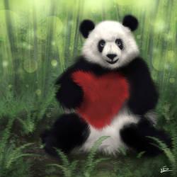 Valentine Panda Pluffy by Hyroar
