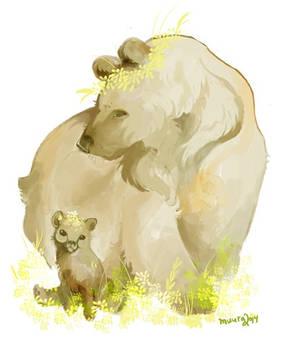 bear mama and cub