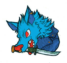 wolf pin