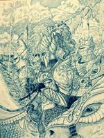 Charge of Dol-Amroth by DracarysDrekkar7
