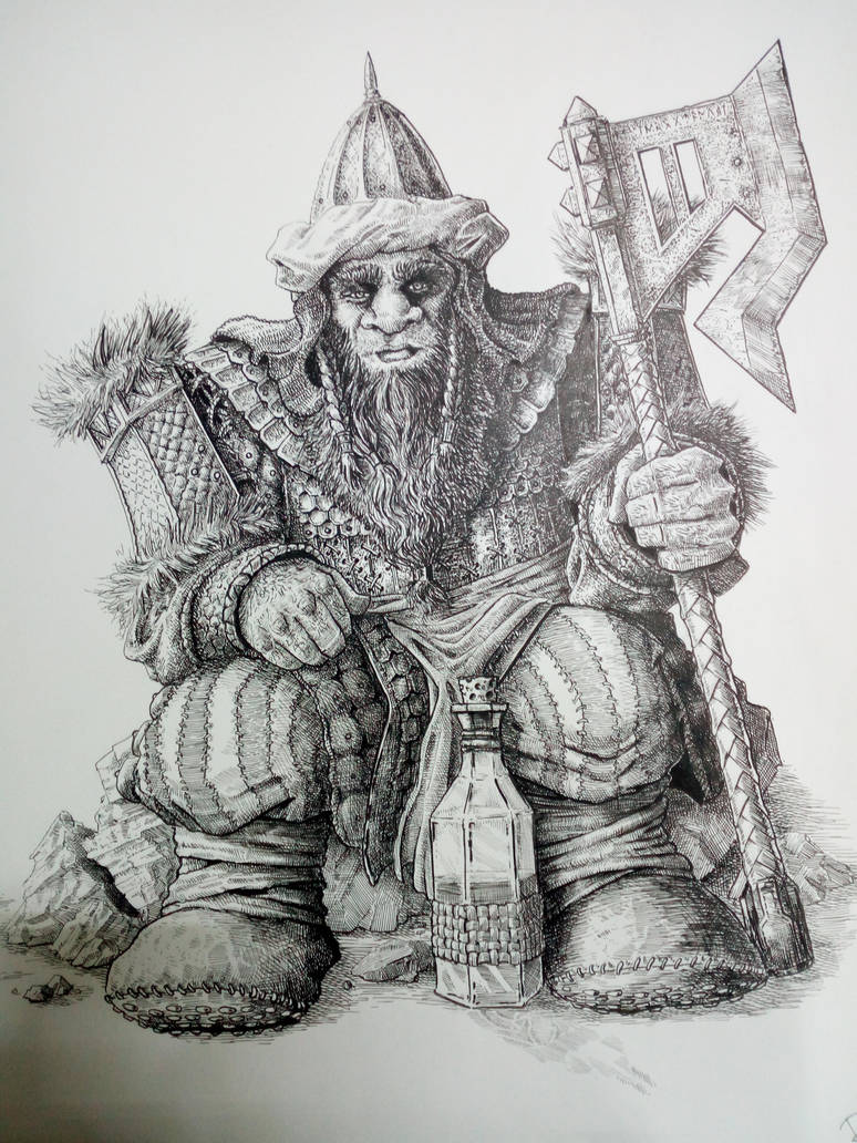 9th age  Nabatean Dwarf (warhammer .) by DracarysDrekkar7