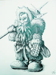 9th age Inuit dwarf (warhammer) . by DracarysDrekkar7