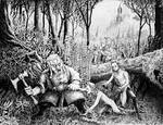 Kinslaying of Doriath. (Fanart.)