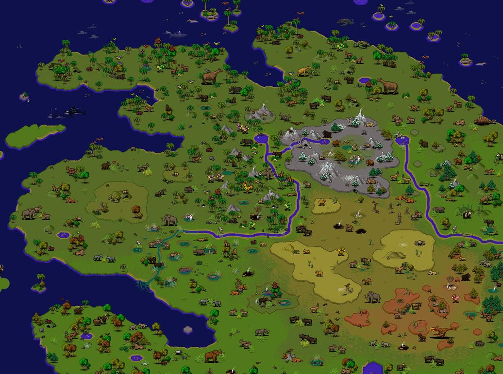 Pixel world map sample by daftpanzeruk on deviantart pixel world map sample by daftpanzeruk gumiabroncs Images