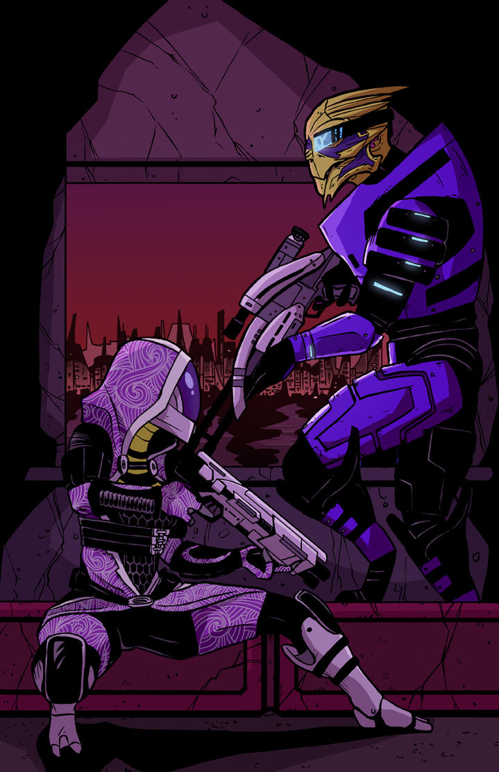 Tali and Garrus: Mass Effect 2 by JakeEkiss