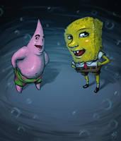 Spongebob and Patrick by DavidStrife