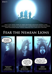 Fear the Nemean Lions - Pag1 by DavidStrife