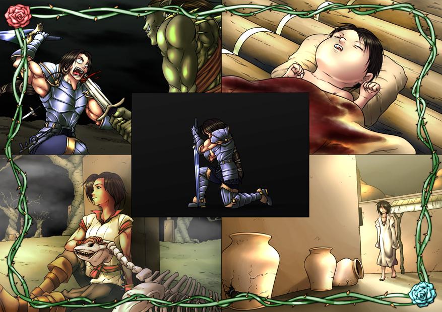 Commission - OC - Xailan flashbacks by Kibate