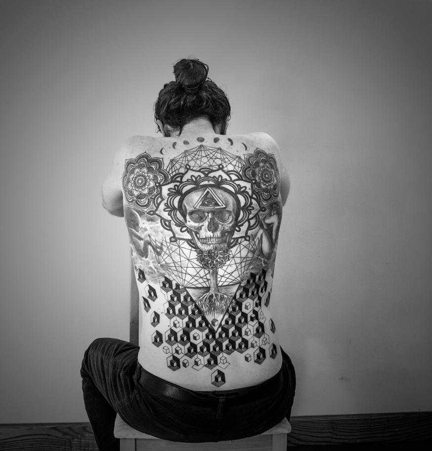 Tattoo - Part Deux! BW by xxPseudOxx