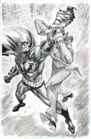 Batman and Joker by FreddieEWilliamsii