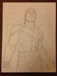 Superman DC Comics WIP 2 by FreddieEWilliamsii
