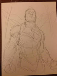 Superman DC Comics WIP 1 by FreddieEWilliamsii