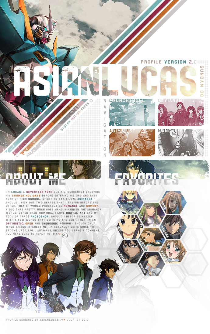 Gundam 00 +Webdesign by asianlucas on DeviantArt