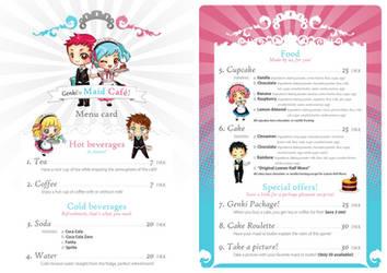 Maid Cafe, Menu Card +Design by asianlucas