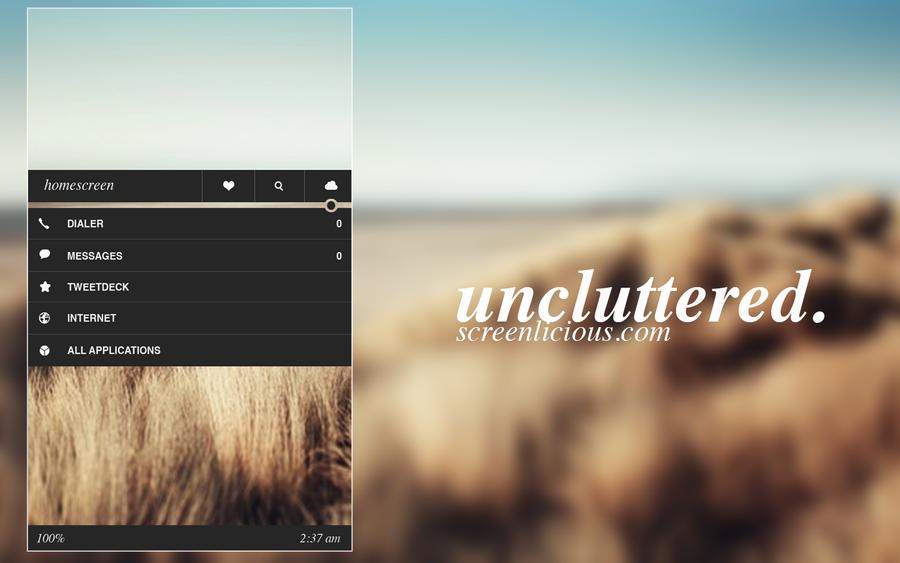 Uncluttered. by xNiikk