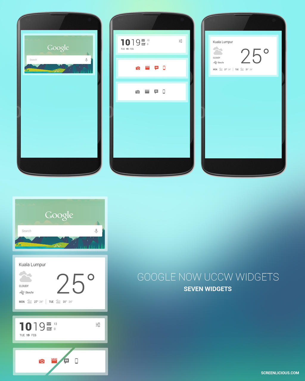 Google Now UCCW Widgets by xNiikk