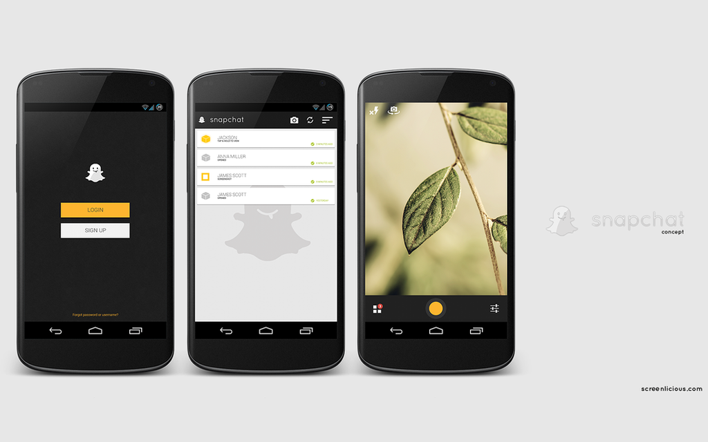 Snapchat Concept by xNiikk
