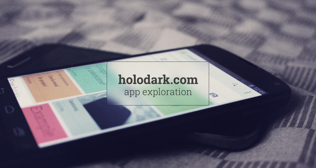 HOLODARK - APP EXPLORATION by xNiikk
