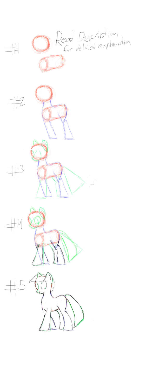 quick and dirty how to draw ponies. by ICTG4U