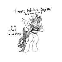 My little pony valentimes to Phillipe Hache by ICTG4U