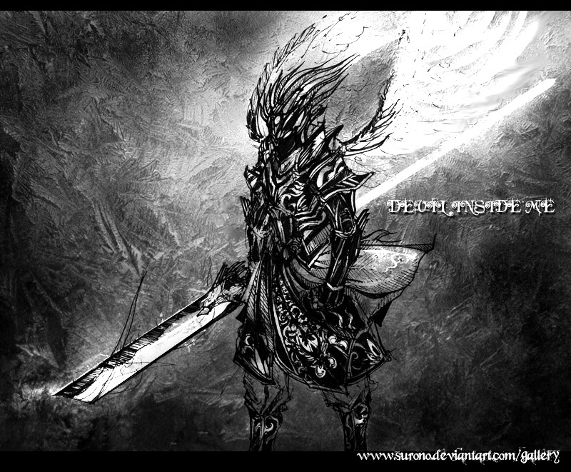Devil Inside Me Black Tone by surono
