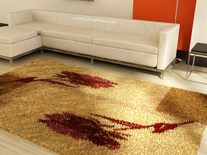 Living Room With Nice Carpet By Surono On Deviantart