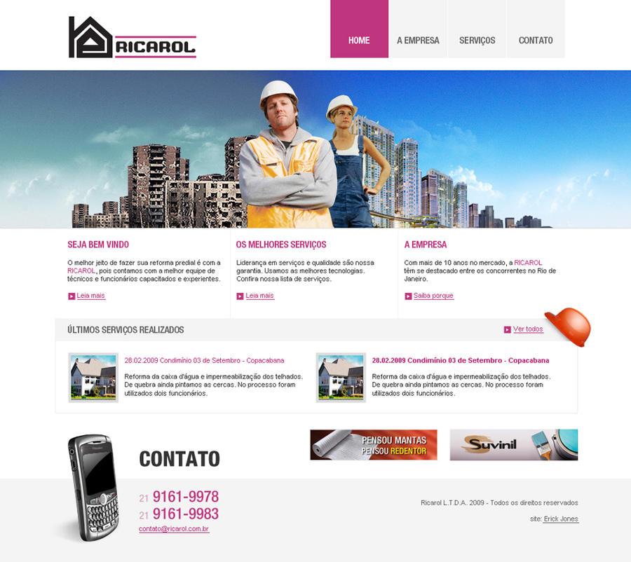 website proposal for Ricarol by erickjones