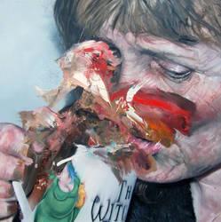 Study of Cathy and Mug by Andrewnewtonart