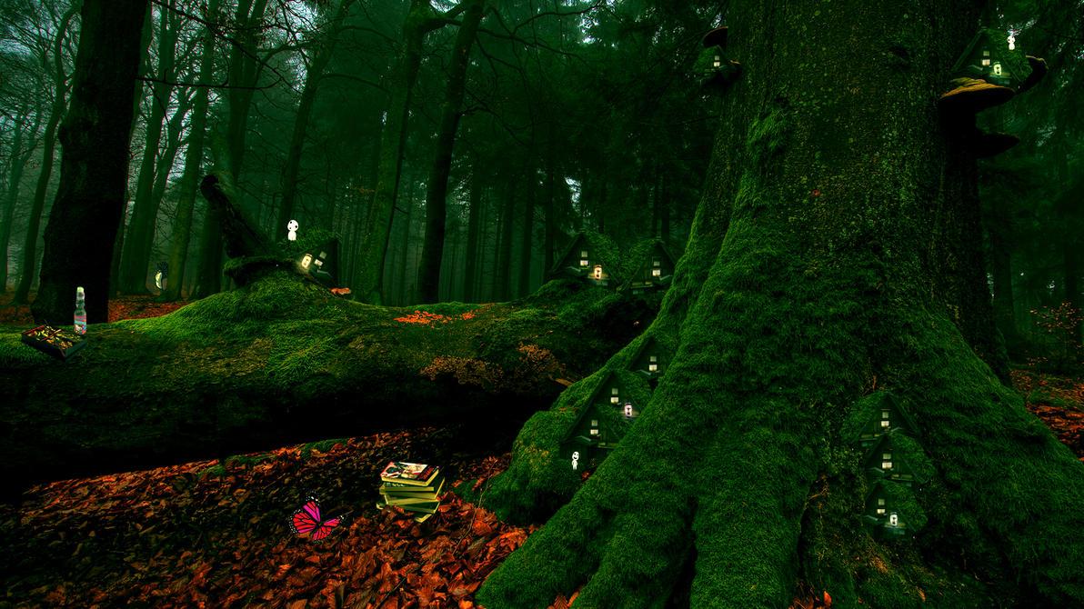 Deer god Forest by Gulloh
