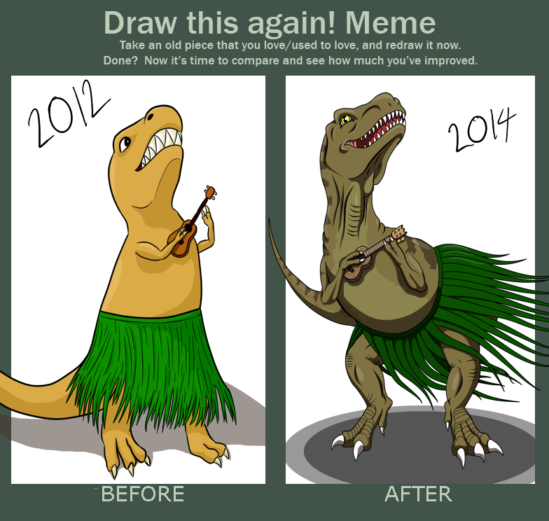 draw_it_again_meme__t_rex_playing_a_ukulele_by_defy_gravity_42 d812qn2 draw it again meme t rex playing a ukulele by defy gravity 42 on,Ukulele Meme