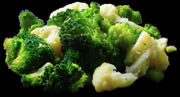 Broccoli and Cauliflower by valsgalore