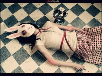 mask of white rabbit by Myruso