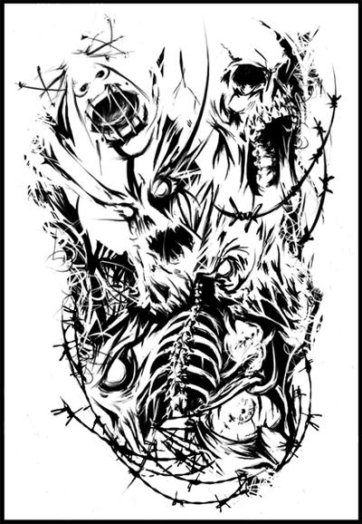 Wolf Death Coloring Pages
